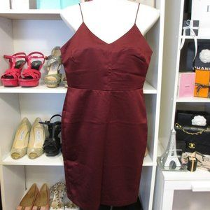 Satin Red Dress Lumiere